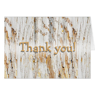 """Personalize:  """"Thank you"""",  Peeling Paint Abstract Card"""