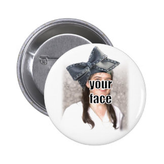Personalize the Big Bow Hat 2 Inch Round Button