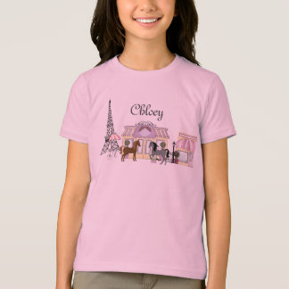 Personalize The Pretty Ponies Paris Horse T-Shirt