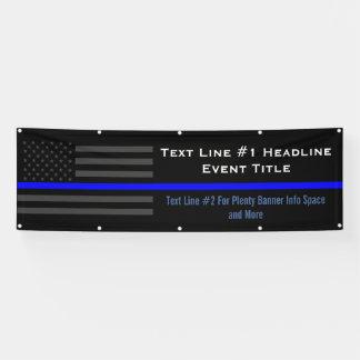 Personalize Thin Blue Line USA Flag Medium Display Banner