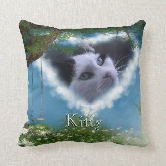Personalize this Cat in Heaven Pet Memorial Pillow