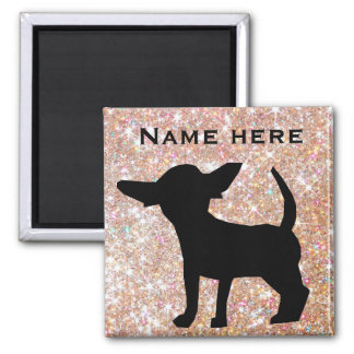 Personalize this chihuahua magnet with name