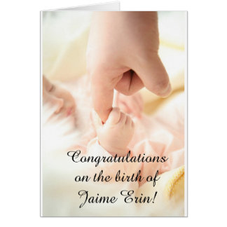 "Personalize this ""Congrats on New Baby"" card! Card"
