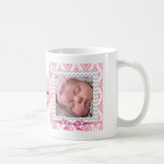 Personalize this cute Pink Framed Photos Heart Coffee Mug