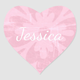 Personalize this cute Pink Heart Sticker