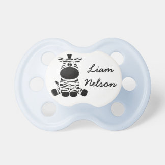 Personalize this cute Zebra Pacifier