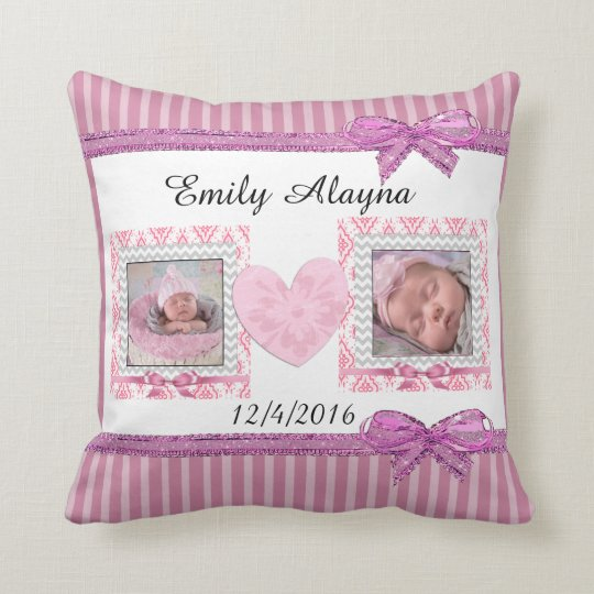 Personalize this Gorgeous Baby Photo Pillow
