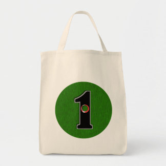 Personalize this Lucky Golfer Hole in One Design! Tote Bag