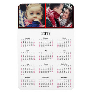 Personalize this Mini 2017 Magnet Calendar