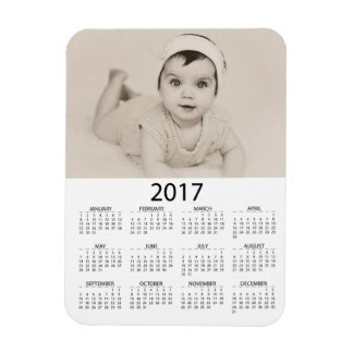 Personalize this Photo 2017 Mini  Calendar Magnet