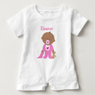 Personalize this Pink Baby One Piece Tee
