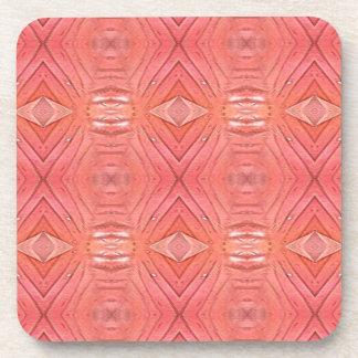 Personalize  This Pretty Peach Background Coaster