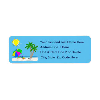Personalize Tropical Beach Tropical Address Labels