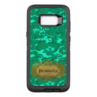 Personalize - Turquoise Camouflage OtterBox Defender Samsung Galaxy S8+ Case