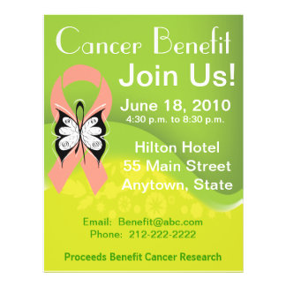 Personalize Uterine Cancer Fundraising Benefit Full Color Flyer