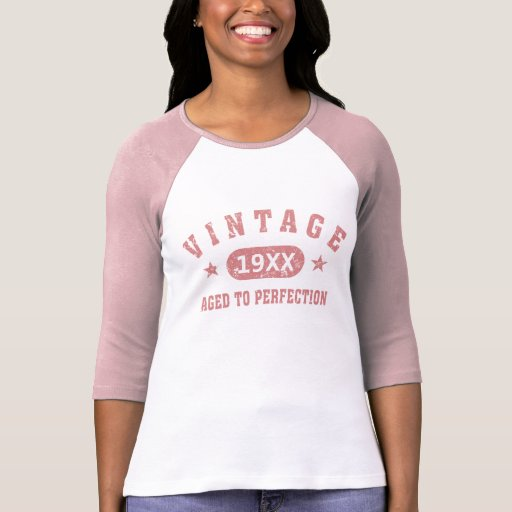 Personalize Vintage Aged to Perfection [pink] T Shirt