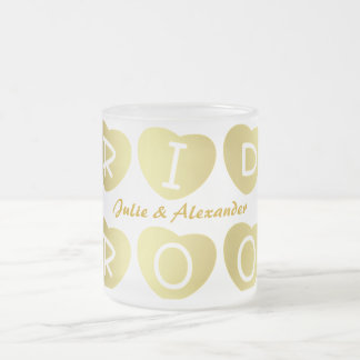 PERSONALIZE WEDDING GIFTS FROSTED GLASS MUG