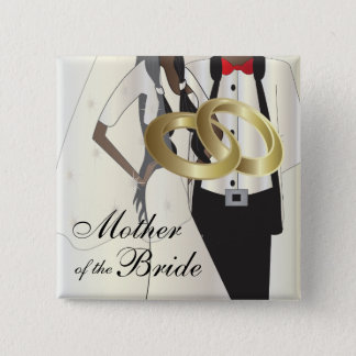 Personalize Wedding Party and Family Members 2 Inch Square Button
