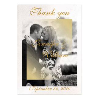 PERSONALIZE WEDDING PHOTO LARGE BUSINESS CARD