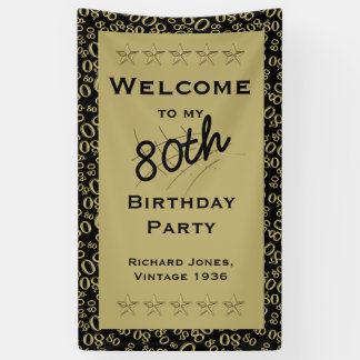 Personalize: Welcome to my 80th Birthday Party Banner
