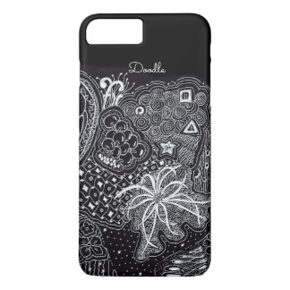 Personalize: White Ink on Black Fun Doodle Art Case-Mate iPhone Case