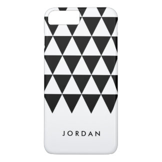 Personalize with name Black Triangle Geometric iPhone 8 Plus/7 Plus Case