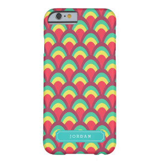 Personalize with Name Colorful Geometric Pattern Barely There iPhone 6 Case