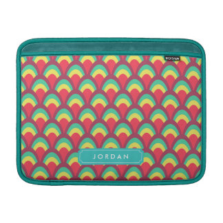 Personalize with Name Colorful Geometric Pattern Sleeve For MacBook Air