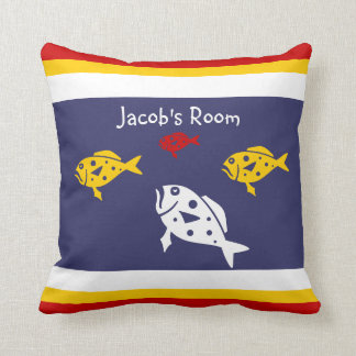 Personalize with name fish pillow