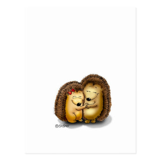 Personalize with name - Hugging Hedgehogs Postcard