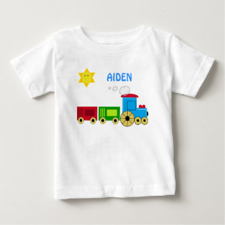 PERSONALIZE WITH YOUR CHILD'S NAME CUTE TRAIN SHIR BABY T-Shirt