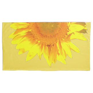 PERSONALIZE Yellow Sunflower on Pillowcase