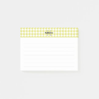 Personalize:  Yellow / White Textured Houndstooth Post-it® Notes