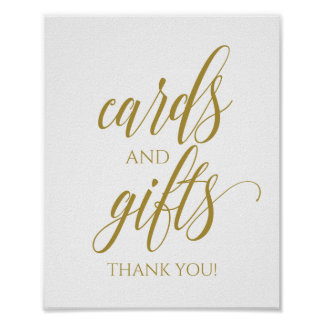 PERSONALIZE YOUR COLOR! Cards & Gifts Calligraphy Poster