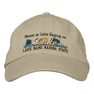 Personalize Your Embroidery Name LAKE or LAKE Name Embroidered Baseball Cap