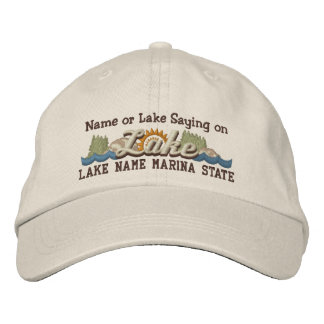 Personalize Your Embroidery Name LAKE or LAKE Name Embroidered Hat