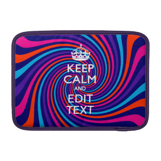 Personalize Your Keep Calm and Multicolored Swirl MacBook Air Sleeve