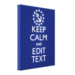 Personalize Your Nautical Keep Calm And Edit Text Canvas Print