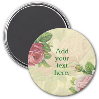 Personalize your own beautiful rose/floral magnet