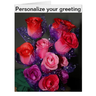Personalize your own greeting Valentine's Day Card