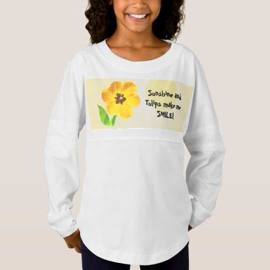 Personalize your quote!  Yellow Spring Tulip Pic Jersey Shirt