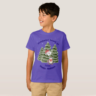 Personalize Your School Christmas T-Shirts