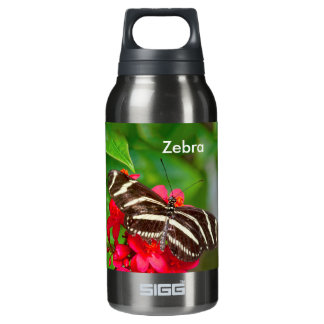 Personalize: Zebra Butterfly Nature Photography Insulated Water Bottle
