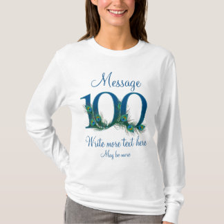 Personalized 100 classy 100th century birthday T-Shirt