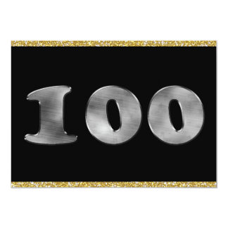 Personalized 100th Birthday Silver Number 100 Card