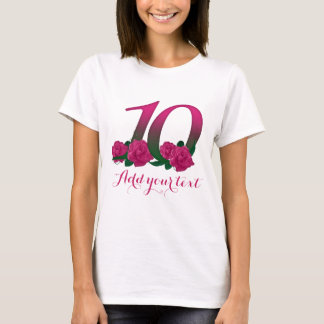 Personalized 10th  customizable 10 template T-Shirt