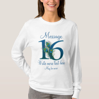 Personalized 16 classy 16th birthday anniversary T-Shirt