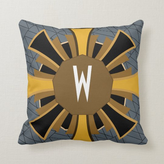Personalized - 1920s Art Deco Geometric Throw Pillow