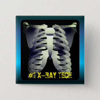 Personalized #1 X-Ray Tech 2 Inch Square Button
