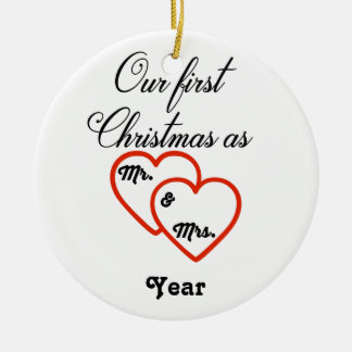 Personalized 1st Christmas as Mr. & Mrs. Ornament